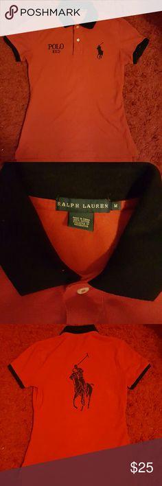 Ralph Lauren polo short sleeve shirt Ralph Lauren red polo short sleeve shirt Ralph Lauren Shirts Polos