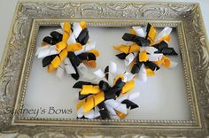Pittsburgh Steelers NFL Korker Bow Hair Clip by SydneysBows on Etsy, $2.99