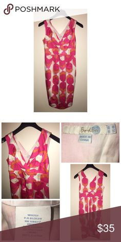 Boden Print Dress Pre•loved Boden Print Dress. Size 4. Lined. Side zip closure. EUC Boden Dresses