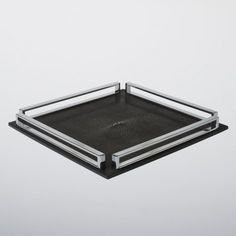LINLEY | Dining accessories | Square Tray in Black Shagreen | Luxury Gifts & Homeware, Furniture, Interior Design, Bespoke