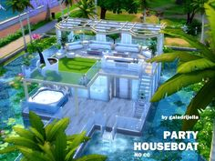This modern and fancy houseboat is perfect for those Sims that are absolutely into partylife and those that appreciate summer breeze and feel the vibes of the night disco. The lower floor has a...