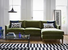 The Izzy chaise is a comfy and stylish corner sofa, propped up on oak legs