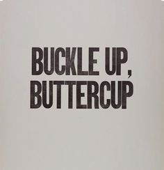 """""""How do I know to trust you?"""" """"Buckle up, Buttercup."""""""