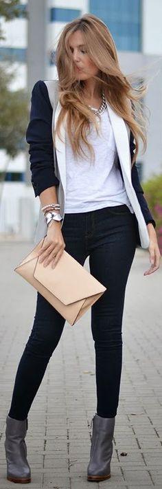Mixed Blazer by Mi Aventura Con La Moda
