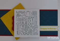 Happy Birthday Card handmade by Sue Wdowik - Independent Stampin' Up! Demonstrator. www.nighnighbirdie.blogspot.com Purchase cards from my Madeit Store: https://www.madeit.com.au/NighNighBirdie