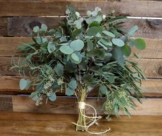 My favorite bouquet, just maybe a smaller version - eucalyptus leaf bouquet