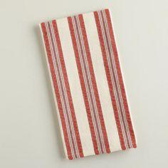 One of my favorite discoveries at WorldMarket.com: Red Striped Seersucker Kitchen Towels
