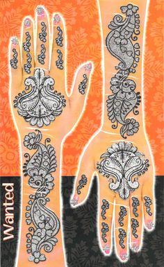 Glimmering Mehendi Tattoos - Multicolor Set #02