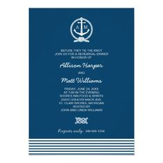 Wedding Rehearsal Dinner | Nautical Theme
