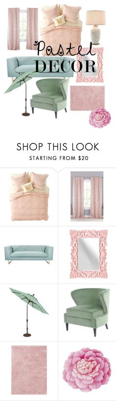 """pastels ❣"" by nikkibarge ❤ liked on Polyvore featuring interior, interiors, interior design, home, home decor, interior decorating, Nordstrom Rack, Lala + Bash, Nimbus and Ted Baker"