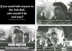 I don't ship Dramione but I think Tom Felton is a bigger HP fan than all of us.