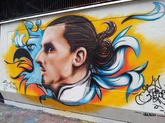 Zlatan - Malmo? Pat Jennings, Graffiti Art, Wall Murals, Football, Shop My, Culture, Legends, Soccer, Painting