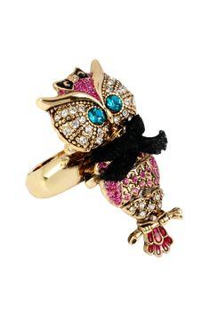Owl Stretch Ring - Betsey Johnson