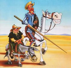 Don Quijote y Sancho #Learn #Spanish