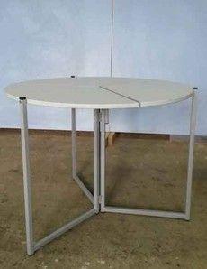 Стол круглый раскладной трансформер – обеденный, журнальный, туристический - Белучколлектор. Производитель школьных досок, школьной мебели. Официальный сайт