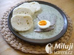 Koprová omáčka Hummus, Eggs, Breakfast, Ethnic Recipes, Sauces, Food, Kitchens, Morning Coffee, Essen