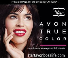 Now all your favorite lipsticks, glosses, eyeshadows and nail enamel have Avon's acclaimed TRUE COLOR technology, designed to give you the natural flawless look you want...nothing less. #startavonbosslife #avon #avonrep #makeup