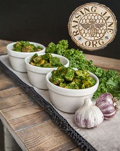 Roasted Potatoes W/Kale Pesto  Prep Time: 25 Minutes  Cook Time: 35-40 Minutes  Makes 4-6 Servings