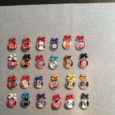 MLB earrings pick your team. Adorable with matching bow.