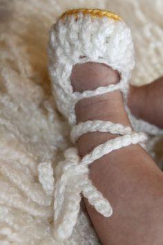 CROCHET PATTERN PDF - Crochet Baby Ballet Slippers. $3.50, via Etsy.