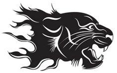 Ferocious fire tiger head vector material