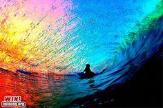 Surf the rainbow