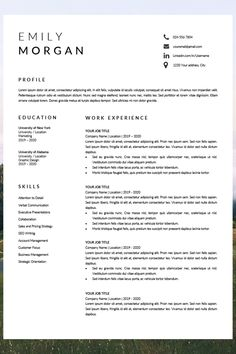 resume layout template - professional looking resume - resume templates word - resume and cover letter Simple Resume Format, Job Resume Format, Job Resume Template, Resume Layout, Cv Template, Resume Design, Layout Template, Design Design, Graphic Design