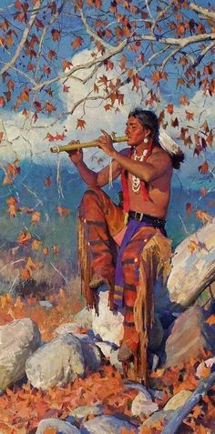 Cowboy Artists of America - National Cowboy & Western Heritage Museum Native American Flute, Native American Wisdom, Native American Artwork, American Indian Art, Native American History, American Indians, Danse Country, Arte Tribal, Indian Paintings