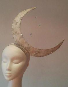 Crescent Moon by JOHANNA GUERIN #HatAcademy #millinery