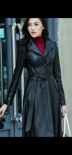 Harajuku Japan, Polo Neck, Vintage Leather, Asian Woman, Asian Beauty, Mantel, Vintage Fashion, Celebrities, Leather Coats