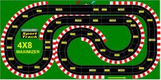 layout, maybe can be configure for -_-_- Special Track Layouts For Specific Purposes : Slot Cars, Slot Car Track Sets, Digital Slot Cars, New Slot Cars and Vintage Slot Cars – Electric Dreams Rc Car Track, Slot Car Race Track, Slot Car Racing, Slot Car Tracks, Kart Racing, Train Tracks, Scalextric Digital, Scalextric Track, Afx Slot Cars
