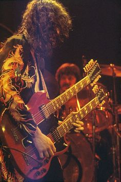 Jimmy Page and John Bonham of Led Zeppelin