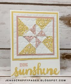 Jen's Scrappy Pages: FB Live - Wine Down Wednesday Quilted Card