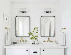 Design 101: How High To Hang Your Sconce in Every Room   48 of Our Favorite Picks - Emily Henderson #livingroom #lighting #sconce Wall Sconce Lighting, Sconces, Bright, Bathroom Renos, Decorating Small Spaces, Farmhouse Ideas, Modern Farmhouse, Modern Bathrooms, Design