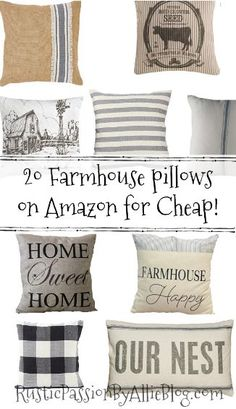 I went to a home decor shop the other day and found the cutest pillow! But it was almost $60 and I just couldn't get myself to purchase a throw pillow for that price when I buy them all the time online for way cheaper! So I wanted to put together this list of Farmhouse …