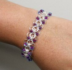 Gwynevere Flat Chain Maille Bracelet by craftmansguild on Etsy, $35.00
