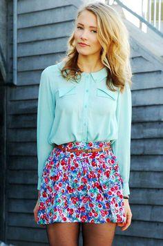 cute floral skirt
