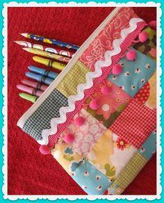 Patchwork Pencil Case
