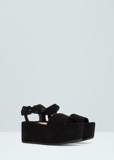 Sandalia pulsera plataforma | MANGO