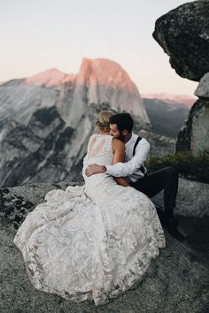 Mountain wedding portraits at Yosemite National Park | Image by From The Daisies