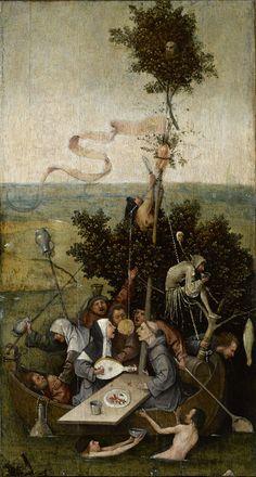 Hieronymus Bosch - nave de los locos (detalle) c. 1450-1516