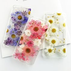 Dried Real Flower Case For iPhone 7 Vintage Handmade Transparent Pressed Protective Back Cover For iPhone 7 Case 5S 6 6S 7 Plus