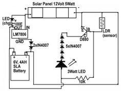 Circuito de Luz de Emergência Solar