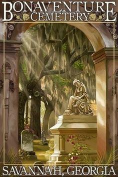 Savannah, Georgia - Bonaventure Cemetery - Lantern Press Poster