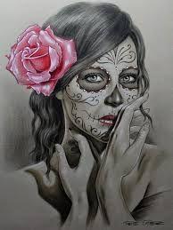 I'm Latina I've got this! La Muerte Tattoo, Catrina Tattoo, Chicano Tattoos, Body Art Tattoos, Girl Tattoos, Gangster Tattoos, Skull Girl Tattoo, Sugar Skull Tattoos, Spanish Tattoo