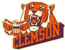 Clemson Tigers  - University  College   Vintage-Looking Travel Decal  Sticker