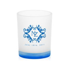 Personalized Frosted Candle Holders for your wedding decoration & wedding favors  #weddings #candleholders #weddingfavors #discountmugs #decorations