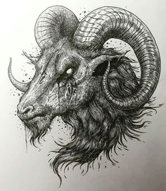 Satanic Tattoos, Satanic Art, Tattoo Sketches, Tattoo Drawings, Art Sketches, Dark Art Drawings, Animal Drawings, Arte Horror, Horror Art
