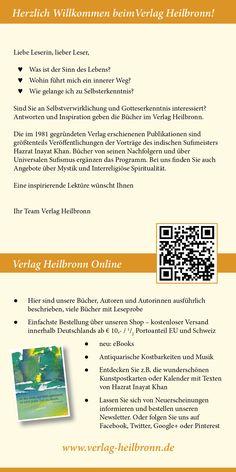 Katalog 2015 vom Verlag Heilbronn -  Seite 2 - Sind Sie an Selbstverwirklichung und Gotteserkenntnis interessiert? Antworten und Inspiration geben die Bücher vom Verlag Heilbronn.   www.verlag-heilbronn.de