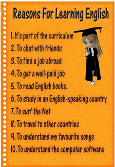 Only ten good reasons to learn and teach English. But they forgot the most important one: Because it is just an amazing language!